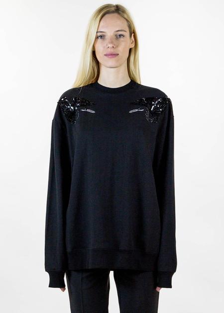 Markus Lupfer Darcy Sequin Black Birds Sweater