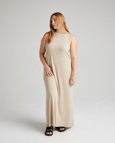 Richer Poorer Vintage Rib Column Dress - Sandstorm