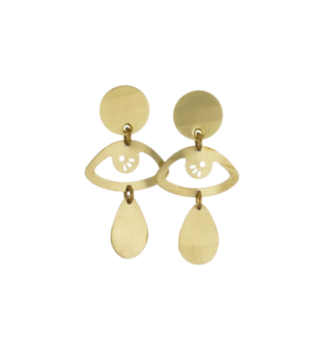 Sibilia Jewelry Look at Me SM earring - Brass