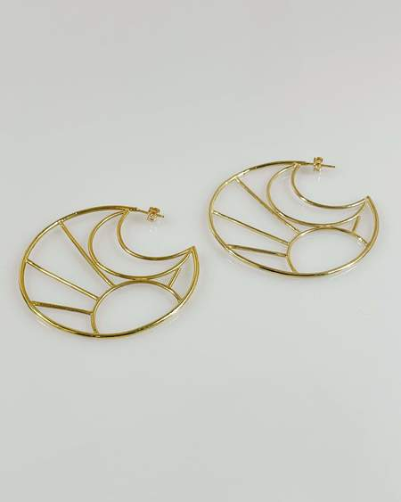 by ren Sun and Moon Hoops - Gold