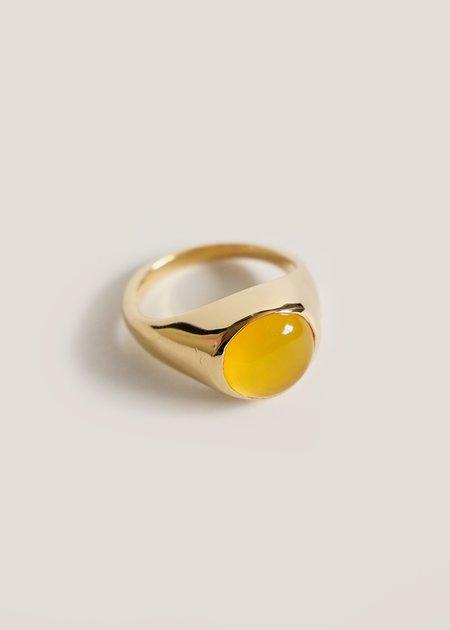 Luiny Onyx Krasner Ring - Yellow