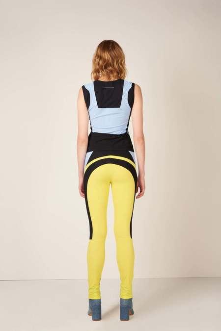MM6 Maison Margiela Panelled design leggings - Black/Yellow/Blue