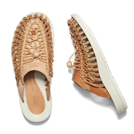 Keen Uneek Premium Leather Slide shoes - Cookie Dough