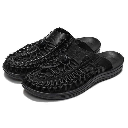 Keen Uneek Premium Leather Slide - Triple Black