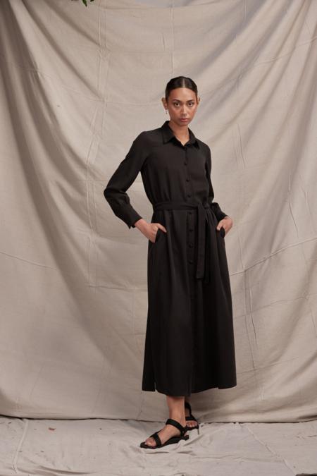 Lois Hazel Carmela Shirt Dress - Black