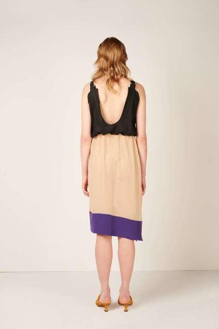 DIGITARIA Skirt worn as a dress - Black/Nude/Purple