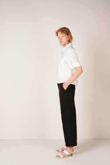 MM6 Maison Margiela Logo-embroidered shirt - White