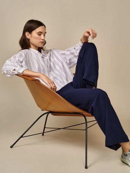 Bellerose Graff Stripe Shirt - White/Lilac