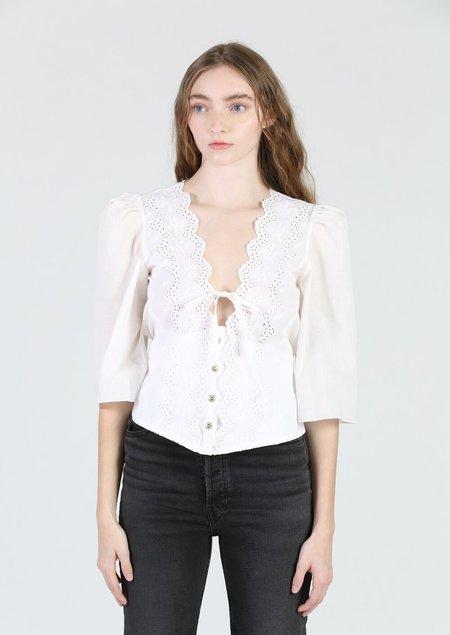 Aurore Van Milhem Theia Top - white