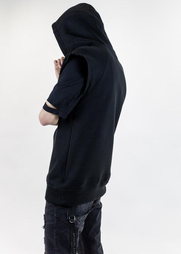 Helmut Lang Oversized Cut Sleeve Hoodie