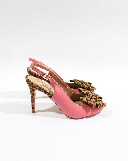 [Pre-loved] BUTRICH The Lady Fresa Slingback Pumps - Leopard/Pink