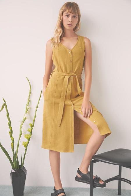 Eve Gravel Utopia Dress - Saffron