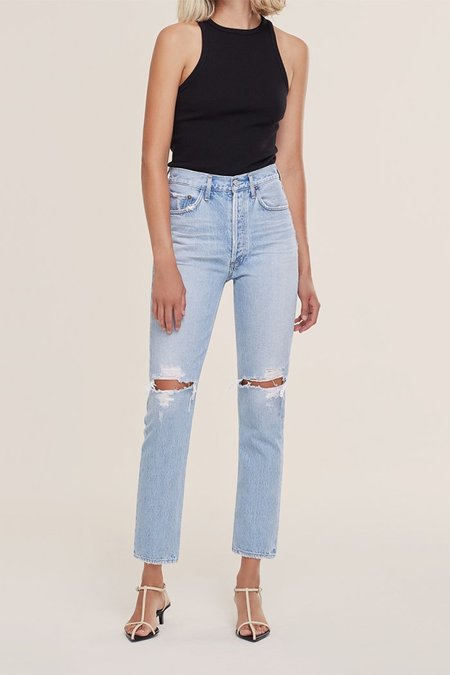 Agolde Riley Crop Jeans - Clear Skies