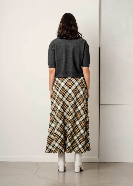 Penny Sage Lydia Skirt - Plaid Flannel