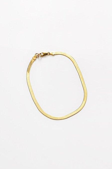 Wolf Circus Herringbone Anklet - Gold