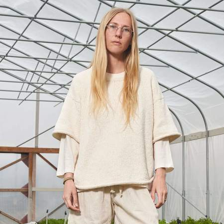 Wol Hide Loose Pullover Tee - Undyed