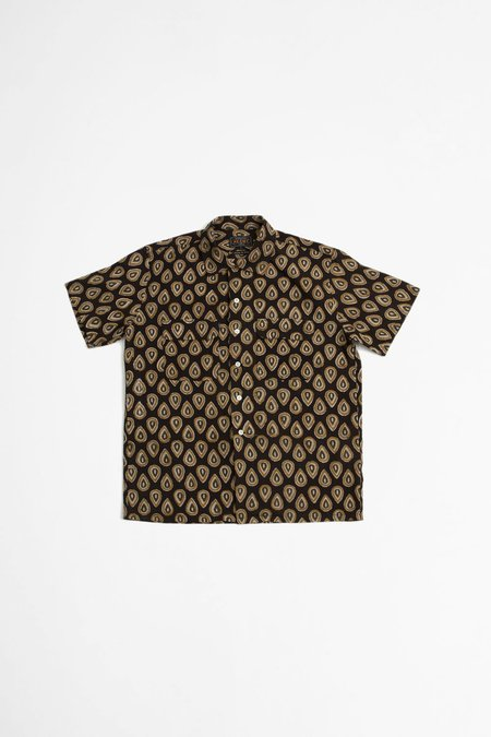 Beams Plus Open collar batik print shirt - multi