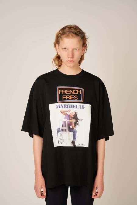 MM6 Maison Margiela Photographic print logo T-shirt - Black