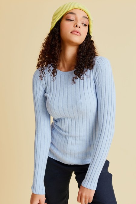 hej hej Layer Cake Knit sweater - Sky Blue
