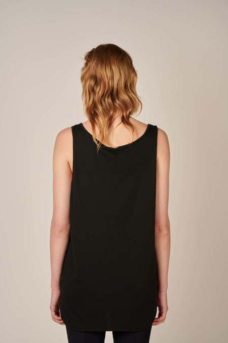 Embroidered tank top - Black