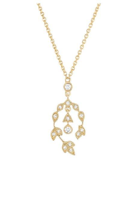 Stone Paris Bloom Necklace - Yellow Gold/Diamonds