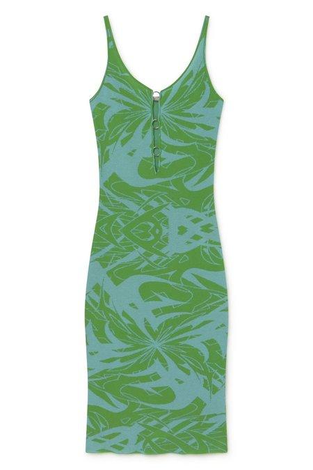 Paloma Wool Scorpia Flash Print Knit Dress - Light Blue/Green