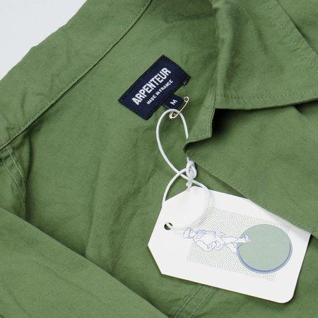 Arpenteur Eddie Cotton-Linen Slub Canvas Jacket - Green