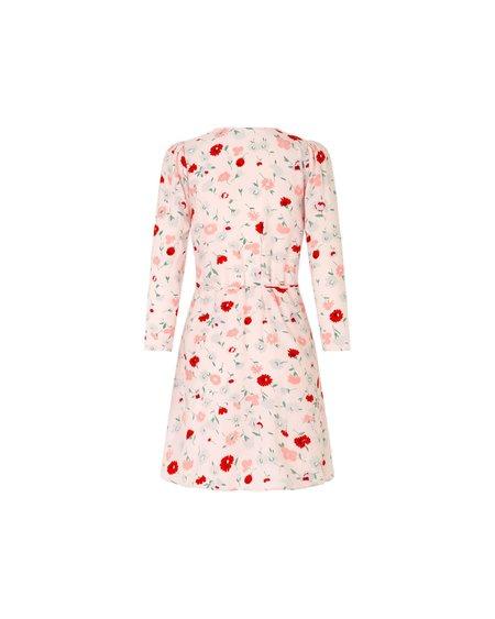 Samsoe & Samsoe Vestido Britt Wrap S Dress - Pink Garden