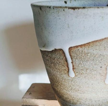 Whiskey + Clay Utensil Crock bowl - natural/white