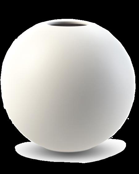 COOEE Design 30cm Ball Vase - White