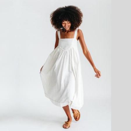 Mirth Newport Dress - White