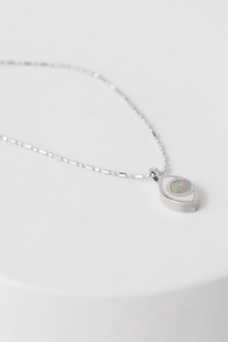 PIA Third Eye Necklace - Silver/Opal