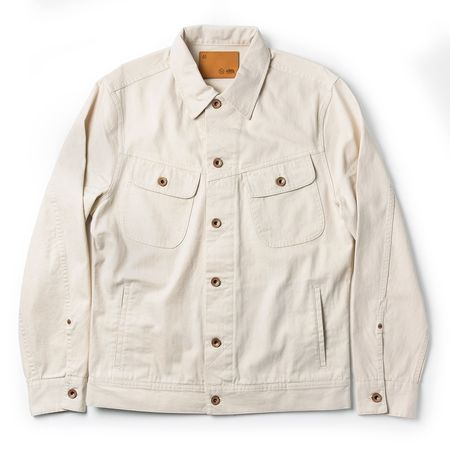 Taylor Stitch The Long Haul Jacket - Natural Organic Selvedge
