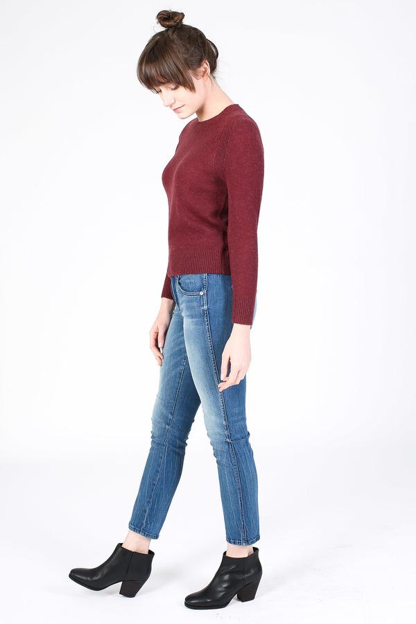 Steven Alan Chord sweater in burgundy