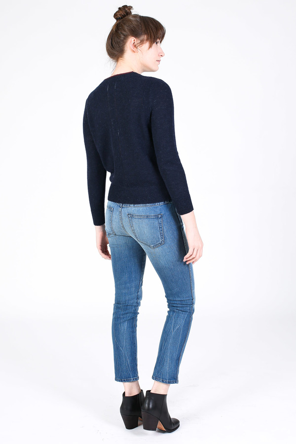 Steven Alan Chord sweater in navy