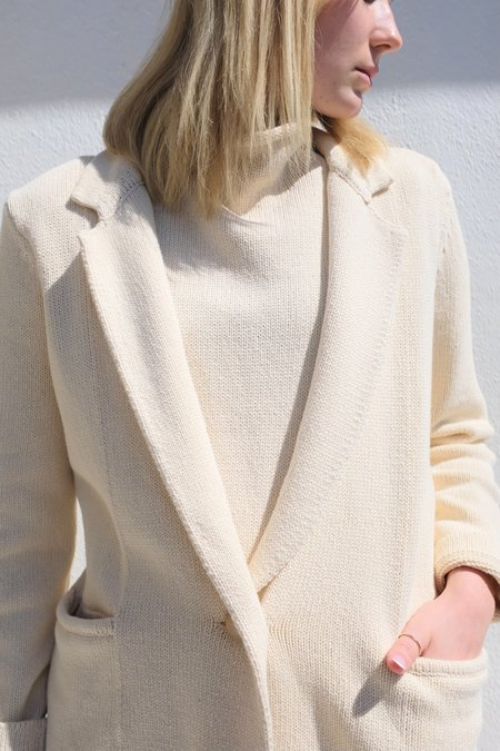 St. Agni Bloom Knit Blazer - Ecru
