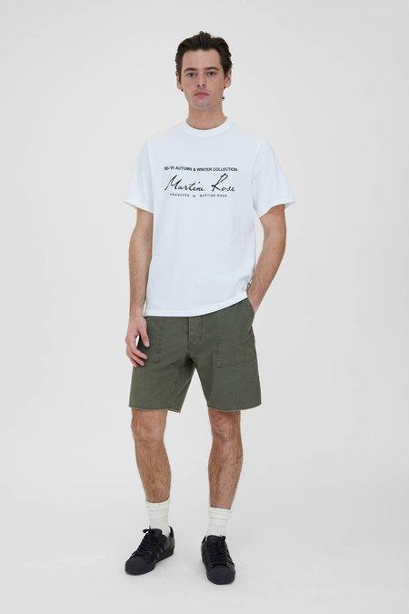 PRESIDENTS Bermuda Fatigue Japan Satin and Band shorts - Army Green