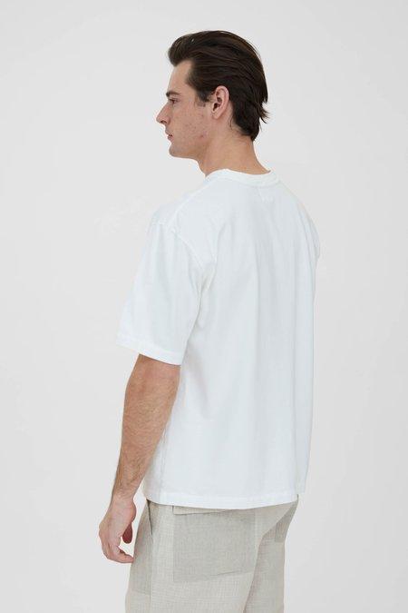 Sage de Cret Crew Neck Pullover T-Shirt - Off White