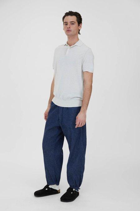 PRESIDENTS Knit Giza Cotton Polo - White Melange