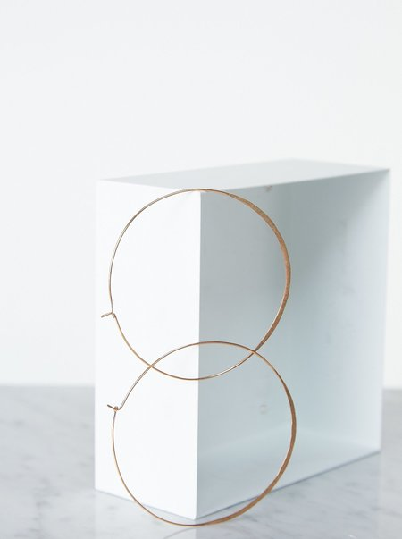 Vintage Large Hoop Earrings - 14K Gold