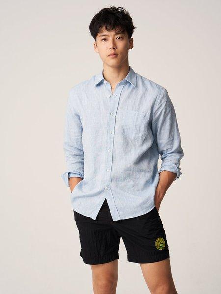 Freemans Sporting Club CS-1 Linen Shirt - Blue