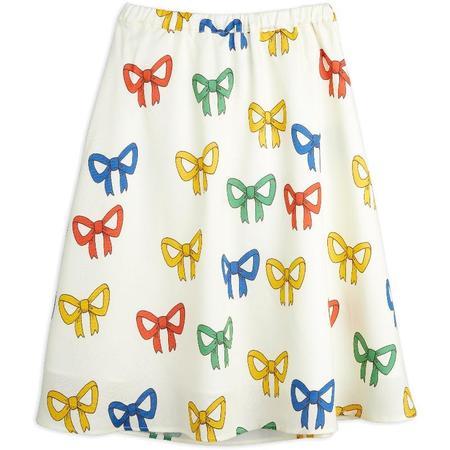 Mini Rodini Bow Allover Woven Long Skirt - Offwhite