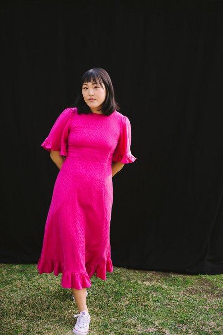 Myrtle Beverly Dress - Fuchsia