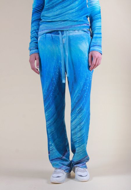 House of Sunny Wave Towelling Pants - Wave Print