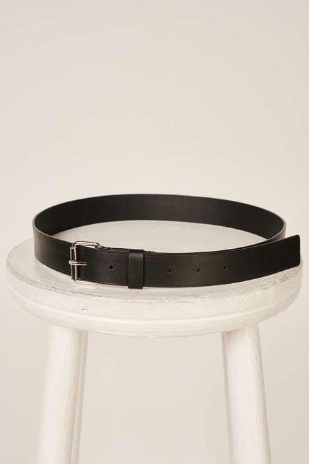 MM6 Maison Margiela Logo print belt - Black