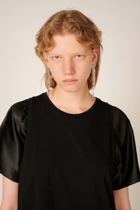 MM6 Maison Margiela Embellished Single Earring - Silver