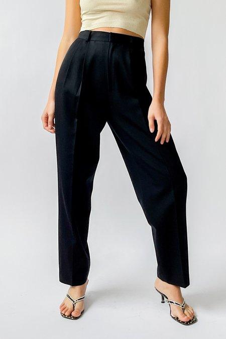 Vintage Pleated Trousers - black