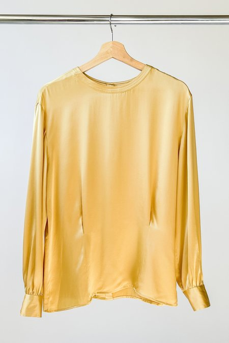 Vintage Silk Blouse - Gold