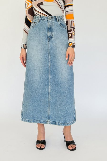Vintage High Rise Denim Skirt