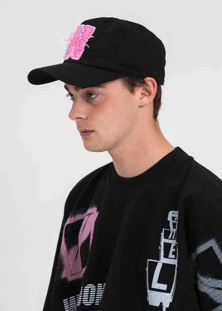 we11done Neon Patch Embroidered Cap - black